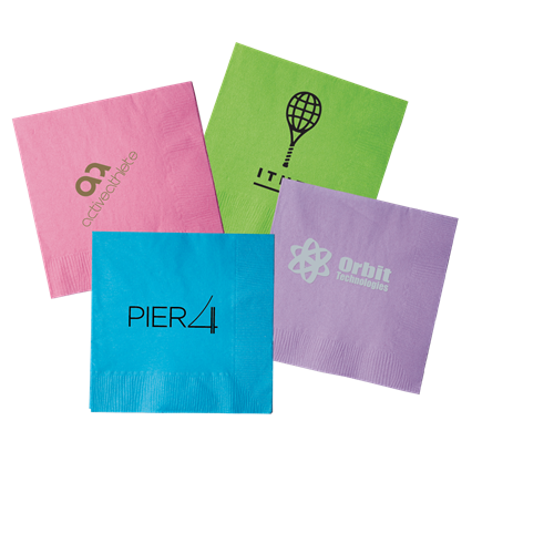 B12IS - Island Colored 2-Ply Beverage Napkins
