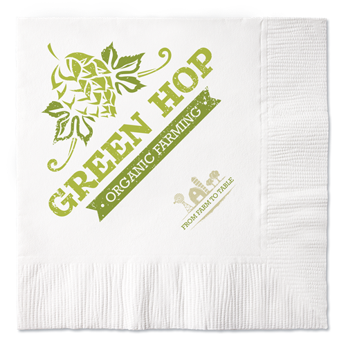 B12R - 100% Recycled White 2-Ply Beverage Napkins