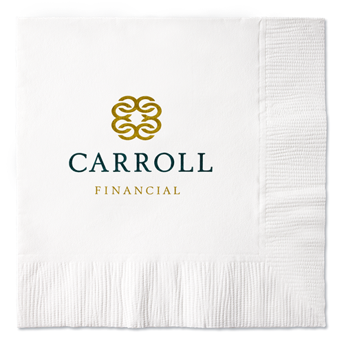 B12S - 100% Recycled White 2-Ply Beverage Napkins