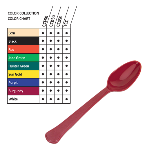 CCS50 - Colored Plastic Spoons