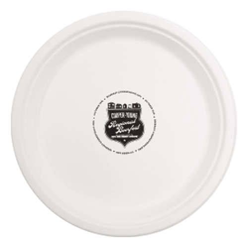 "CPC10 - 10""  Round Compostable  Paper Plate"
