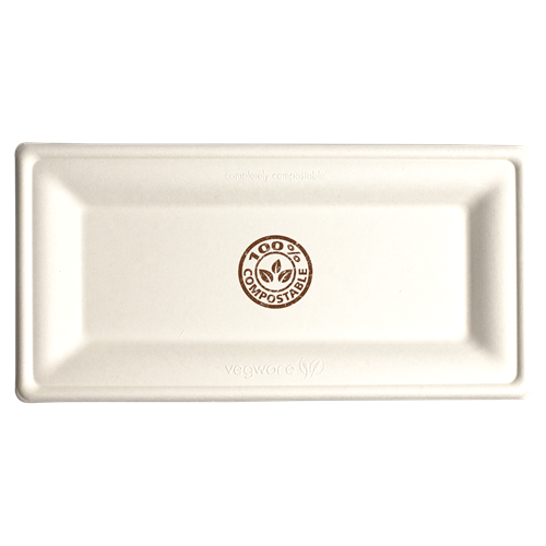 CPCR105 - 10in x 5in Rectangle Compostable Plate