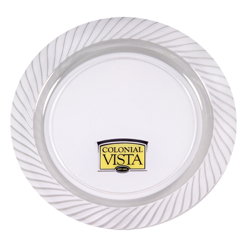 """CWP10 - 10.25"""" Clear Plastic Plates"""