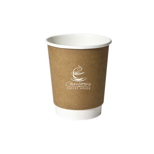 ICF8SK - 8 oz. Double Wall Insulated Paper Cup Kraft