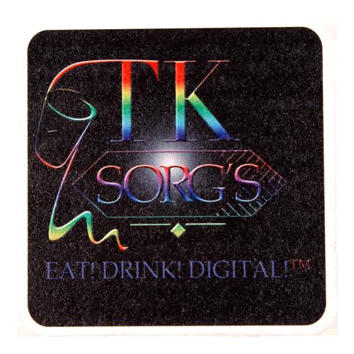"SC80SQD - DIGITAL PRINTED 80 pt. 3.5"" High Density Pulp Board Coasters- SQ"