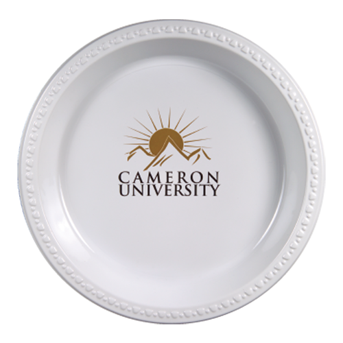 "WPP10 - 10.25"" White Plastic Plates"