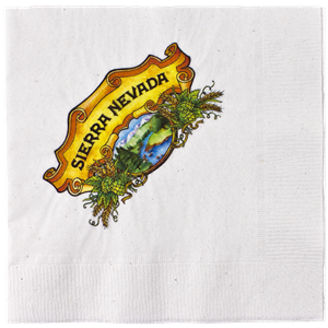 White 2-Ply Beverage Napkin Digital Imprint