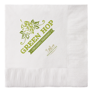 100% Recycled White 2-Ply Beverage Napkins