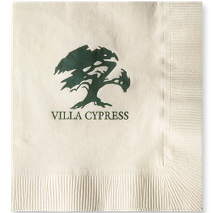 Vanilla 3-Ply Beverage Napkins, Coin edge Embossed