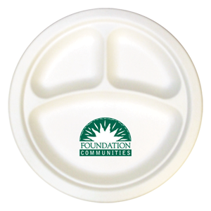 """10"""" 3-Compartment Compostable Plate"""