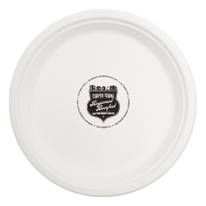 "10""  Round Compostable  Paper Plate"