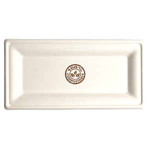 10in x 5in Rectangle Compostable Plate