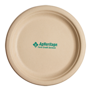 "10"" Kraft Round Compostable Paper Plate"
