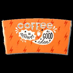 Digital Printed White Coffee Cup Sleeves
