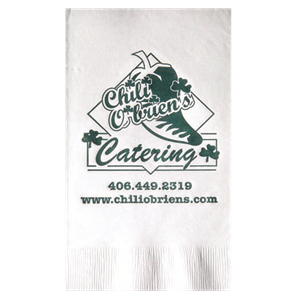 White 3-Ply Dinner Napkins, Coin edge Embossed