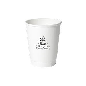 8 oz. Double Wall Insulated Paper Cup White