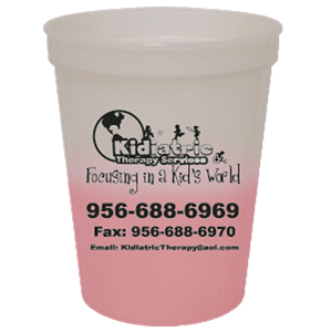 16 oz Translucent Frost to Magenta Mood Stadium Cup SPECIAL ORDER