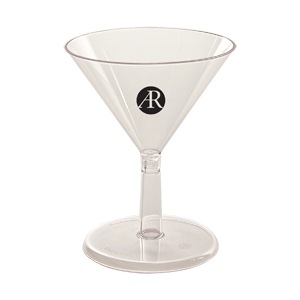 2 oz.Clear Mini Martini Sampler -2-piece
