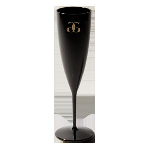 6 oz. Black Champagne Flute