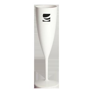 6 oz. White Champagne Flute