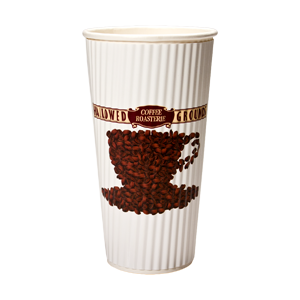 20 oz. Rippled Insulated Paper Cup