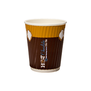 8 oz. Rippled Insulated Paper Cup