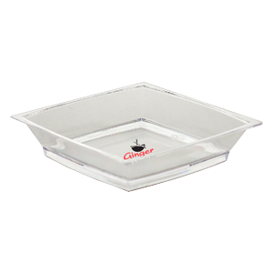 "2.5""Clear, Petite Square Sampling dish"