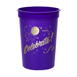 12 oz.Smooth Purple Stadium Cup SPECIAL ORDER