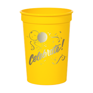 12 oz.Smooth Colored Stadium Cup