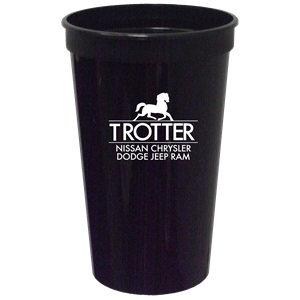 32 oz Smooth Black Stadium Cup SPECIAL ORDER