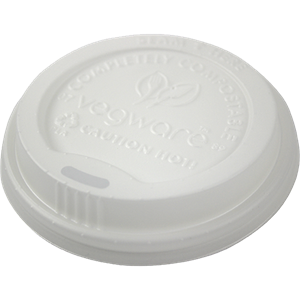 White Dome Compostable Sip Thru Lids