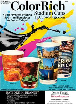 TKCUPS-SORGS COLOR RICH STADIUM CUPS